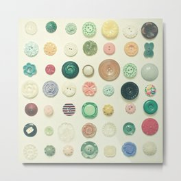 The Button Collection Metal Print