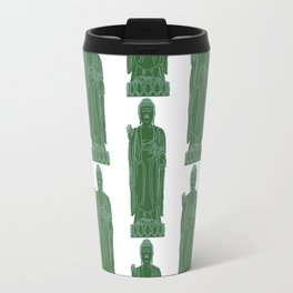 Zen:  Kelly Green + Mint Buddha Travel Mug