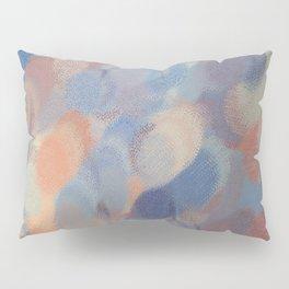 Blue and Peach Puffs Pillow Sham