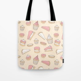 Pink Pastry Pattern Tote Bag