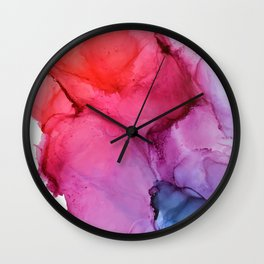 Bleeding Rainbow Blend - Alcohol Ink Painting Wall Clock