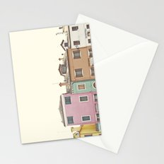 Colored Houses Stationery Cards