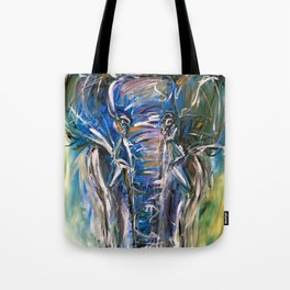 Elephant in motion Tote Bag