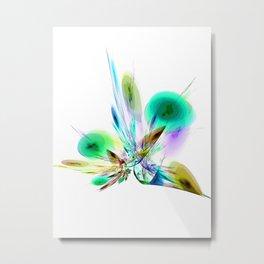 Ikebana Arranged Metal Print