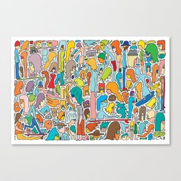Morning Report Color Canvas Print