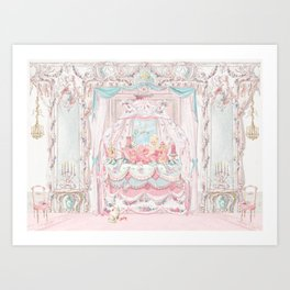 Marie Antoinette and the cake crumb Art Print