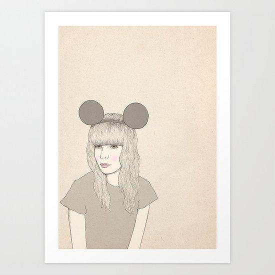 Mouse Girl Art Print