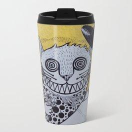 Cheshire Cat Metal Travel Mug