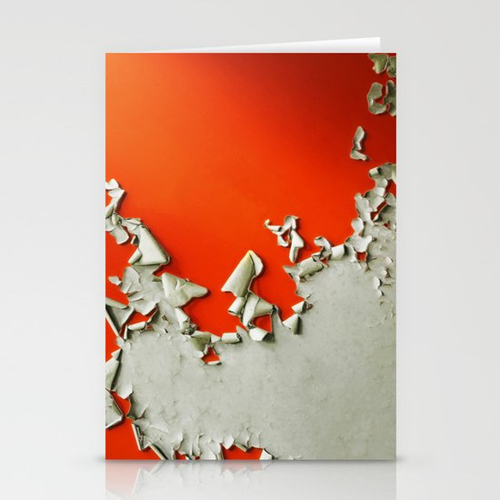 Orange Paper Peel Stationery Cards