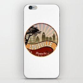 Louisville City Skyline Design Kentucky Retro Vintage iPhone Skin