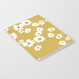 Modern liberty print on mustard ground Notebook