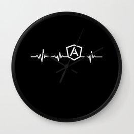 AngularJS Heart beat shirt for JS developers Wall Clock