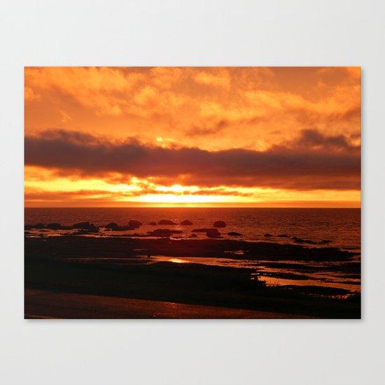 Skies of Fury at Sunset Canvas Print