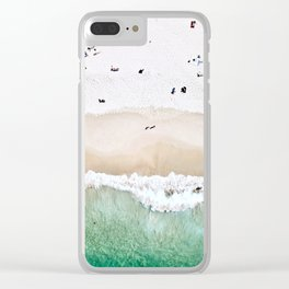A done shot of a sandy beach Clear iPhone Case