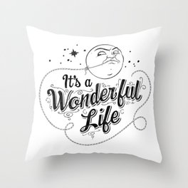 It's a Wonderful Life - Title Throw Pillow