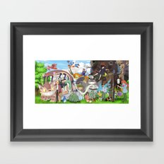 Ghibli Tribute Framed Art Print