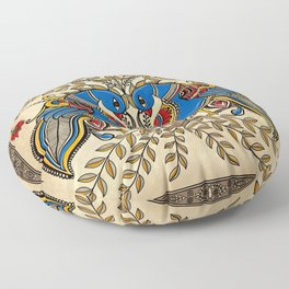 The Gemini peacock  Floor Pillow