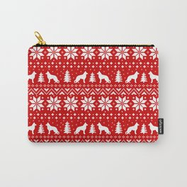 German Shepherd Dog Silhouettes Christmas Holiday Pattern Carry-All Pouch