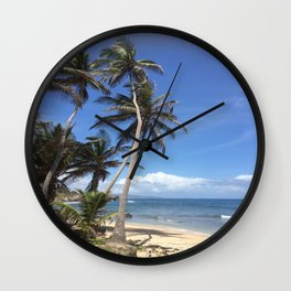 Caribbean Coastline Wall Clock