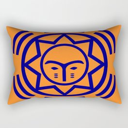 African Shield In Two Colors Rectangular Pillow