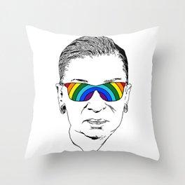 RBG Rainbow Throw Pillow