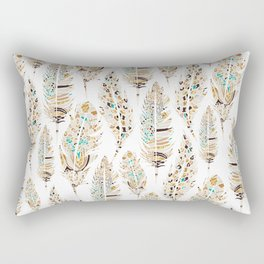 Boho Festival Feather Rectangular Pillow