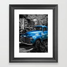Classic Blue 1953 Chevy Pickup Truck Framed Art Print