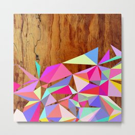 Wooden Multi Geo Metal Print