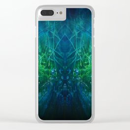Abstract Fantasy Forest V1 Clear iPhone Case