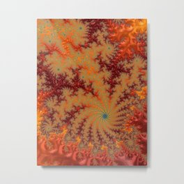 Crimson Alley - Fractal Art Metal Print