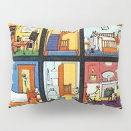 Vintage Doll House Pillow Sham