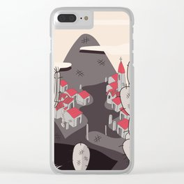 Small Town on the hillside Clear iPhone Case