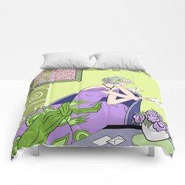 CLARICE: Art Deco Lady - Spring Lilac Comforters