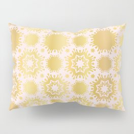 Luxe Rose Gold Star Damask Pattern Seamless Vector Repeat Drawn Pillow Sham
