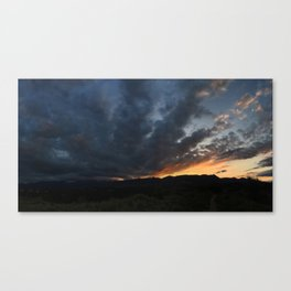 burning mountains Canvas Print