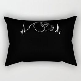 Beagle Dog Heartbeat Gift Idea Rectangular Pillow