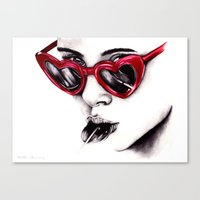 lolita Canvas Prints featuring Lolita  by Bella Harris