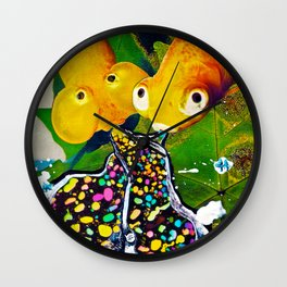 Sister Swimmers Wall Clock