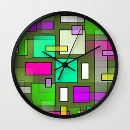 Color Structure Wall Clock