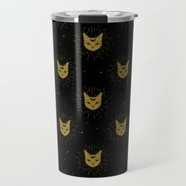 moon kitties in gold Travel Mug