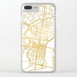 PHILADELPHIA PENNSYLVANIA CITY STREET MAP ART Clear iPhone Case