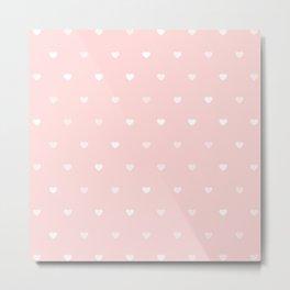 Baby Pink Heart Pattern Metal Print