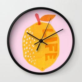 Abstraction_Lemon_Life Wall Clock