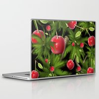 cherry Laptop & iPad Skins featuring cherry by mark ashkenazi