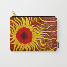Psychedelic Susan 003, Sunflowers Carry-All Pouch