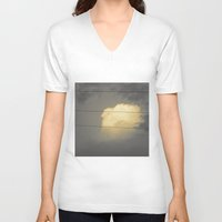 cloud V-neck T-shirts featuring Cloud by Evgeniy Nesterov