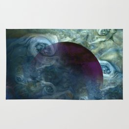 """Blue clouds on Saturn"" Rug"