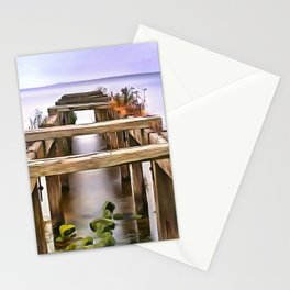 Derrytrasna Jetty, Ireland. (Painting) Stationery Cards