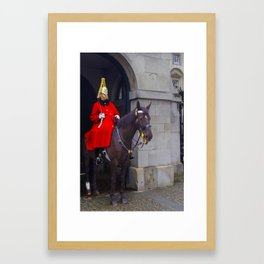 Horse Guards in London Framed Art Print