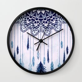 BOHO DREAMS MANDALA Wall Clock